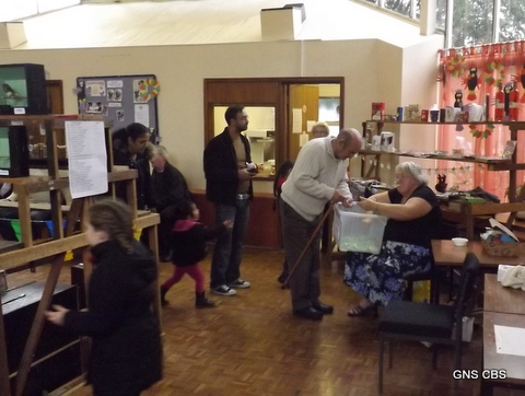 Members of the public at the tombola