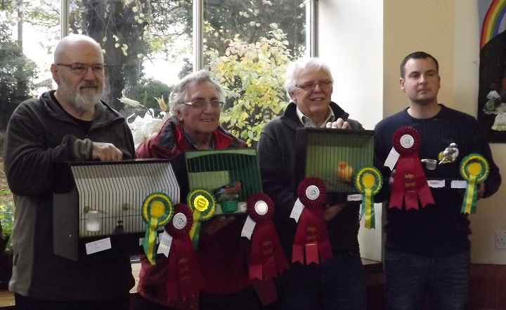 Winners at the 2017 annual show of the four rosettes donated